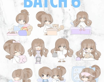 Batch 6 - Bippity and Boo 01 (Kawaii Planner Stickers)