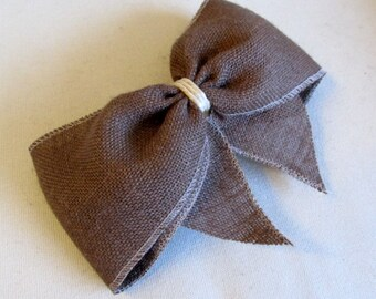 chocolate Brown Burlap Bow extra large/  need more let us know