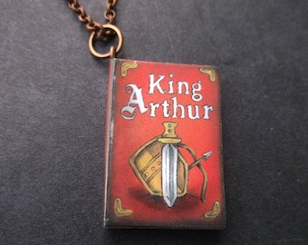 Storybook Necklace - King Arthur - Book Lovers - King Arthur Book