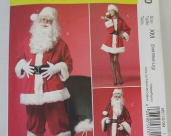 McCalls M 5550 Sewing paper pattern  adult Santa costume  pattern size  (Sml-med-lg) uncut