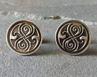 Celtic Knot Sterling Silver Cufflinks, Irish Cufflinks, Celtic Cuff links, Gaelic Jewelry, Irish Jewelry, Irish Inspired Cuff Links