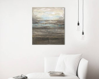 Abstract Oil Painting Landscape, Canvas Painting Original, Oil Painting On Canvas, Grey Painting, Modern Abstract Art Oil Painting Original