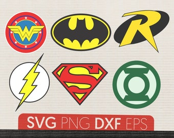 Batman svg Robin svg Batman logo Wonder Woman svg Flash Superman svg Superheroes DС comics svg Superman logo Robin svg Superman logo