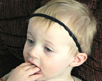 Moes Buttonhole Ultra-thin headband: quarter inch thin infinity headband for baby or woman (choose color)