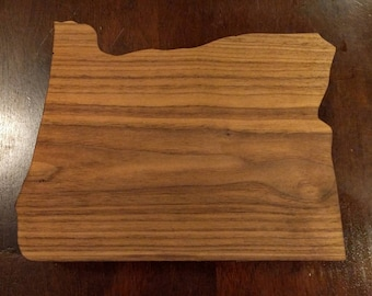 Oregon hardwood cutting board.