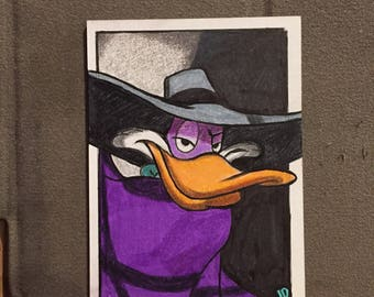 Original Darkwing Duck Sketch Trading Card - JD Card No. 14