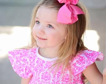 Large hair bows, big hair bows, 6 inch hair bows, giant hair bows, xl hair bows, toddler hair bows, girls hair bows, pink hair bows,