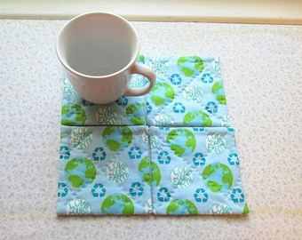 love your earth hand quilted set of mug rugs coasters