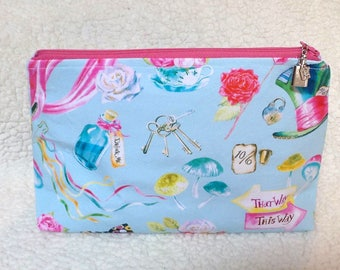 Alice in Wonderland Large Cosmetic Bag