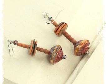 Bohemian earrings for women, Gypsy earrings, Boho dangle earrings, Bohemian tribal earrings, Boho chic earrings for her, Everyday earrings