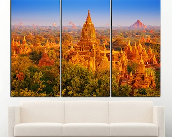 Bagan Myanmar wall art Bagan Myanmar wall decor Bagan Myanmar canvas Bagan Myanmar print Pagoda wall decor Pagoda art Pagoda Canvas Decor