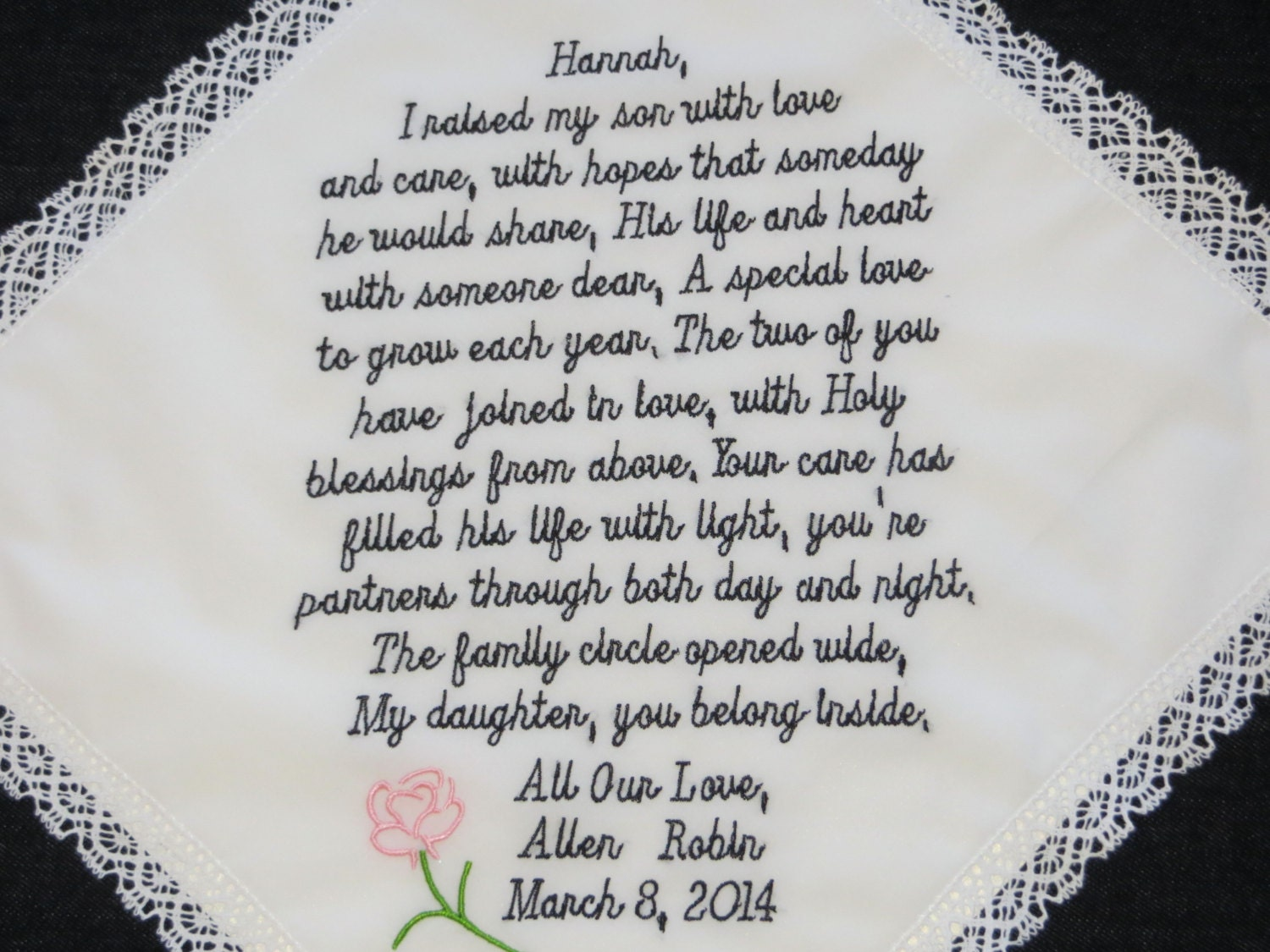 Daughter Son In Law Personalized Poem Christmas Gift: 74 Words Of Your Choice. Welcome Your New Daughter-in-law Into