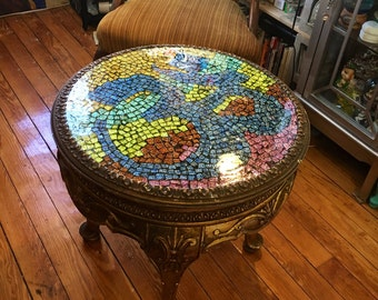 Ohm glass mosaic table