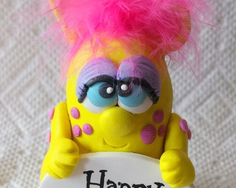 Pook Designz Happy Birthday Pookee - Cake topper, Birthday gift, Collectible