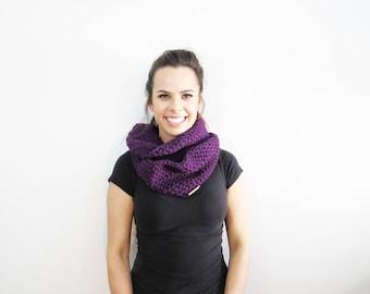 Purple Infinity Scarf. Eternity Scarf. Crochet Scarf. Purple Circle Scarf. Knit Infinity Scarf. Winter Crochet Scarf. Womens Accessories.