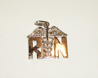 Vintage Charm RN Insignia  Pendent Charm  Vintage 1960 1970             Free Shipping in the USA