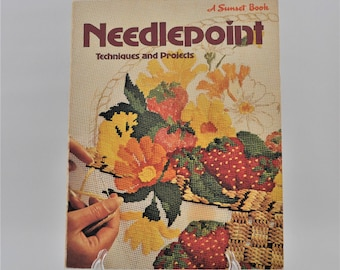 Needlepoint Techniques and Projects - Sunset Book - Instruction- Patterns -