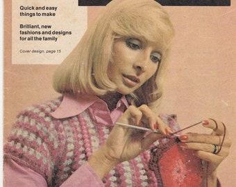 ON SALE Womens Weekly - Crochet Handbook - How to Crochet - Vintage 1970s - Womens Weekly Magazine Insert