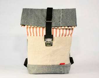 DENIM 80 small backpacks / Upcycling bagpack