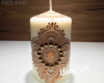 Christmas collection, henna candle, personalized, 0007B