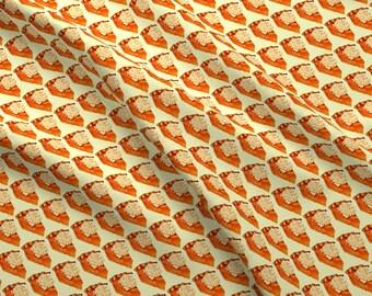 Retro Pumpkin Pie Fabric - Pumpkin Pie By Kellygilleran - Thanksgiving Holiday Pumpkin Pie Kitsch Cotton Fabric By The Yard With Spoonflower