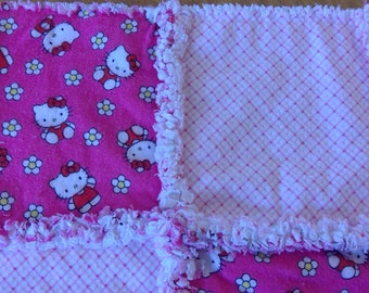 Hello Kitty Burp Cloth / Changing Pad / Home from the Hospital Blanket