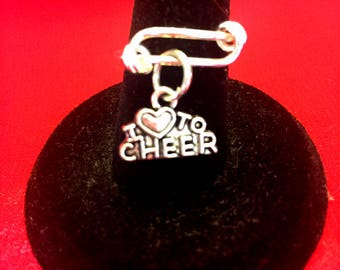 Love to Cheer Ring, Cheerleader Ring, Cheerleading Gift, Cheerleader Jewerly, Cheerleading Charm, Cheerleading Award, Cheerleading Jewelry