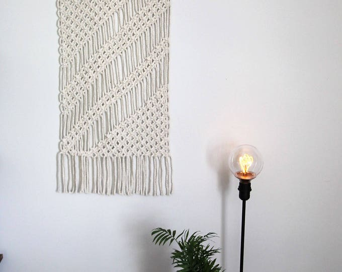 Handmade wall hanging / macrame / shabby chic decor / original wall hanging / bohemian / nautical nursery