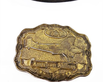 American Airlines Plane Belt Buckle, Exclusive Reproduction For AA, Vintage Buckles