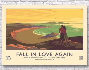 Fall In Love Again : Pembrokeshire 60's Style Poster