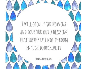 God will pour out blessings printable