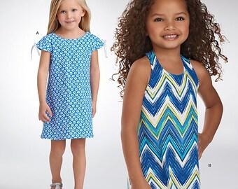 Simplicity It's So Easy 1146 Pattern Child's Knit Dressses ~ Uncut Factory Folded