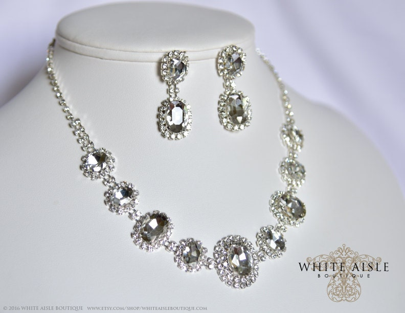 Bridal Statement Necklace, Wedding Jewelry Set, Vintage Inspired ...