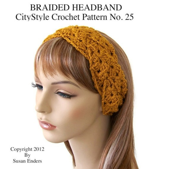 Crochet Headband Pattern, Braided Headband, Crochet Headwrap ...