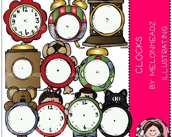 Clock clip art - COMBO PACK