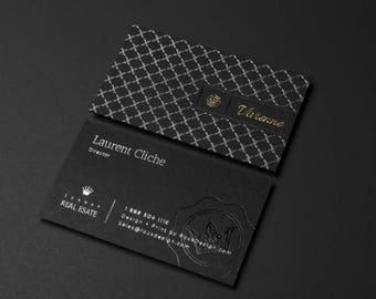 Luxury black business card design and print business card luxury black business card business card with silver and black foil stamping emboss business colourmoves