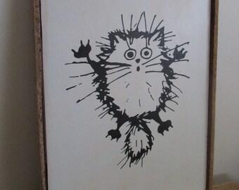 Funny Bathroom Art, Cat Lover Gift