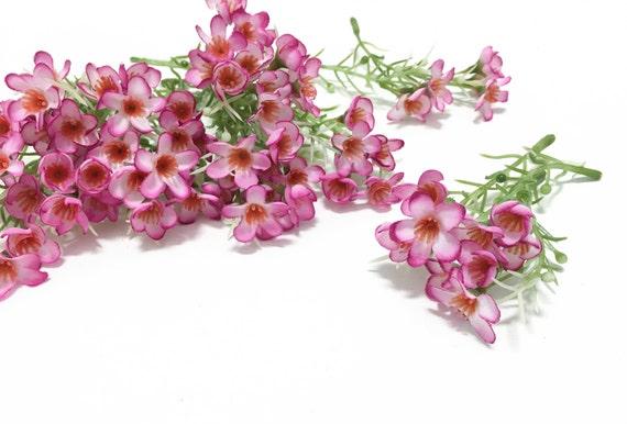 25 small pink wax flower stems artificial flowers filler silk 25 small pink wax flower stems artificial flowers filler silk flowers flower crown wedding flowers hair accessories millinery mightylinksfo