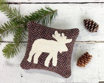 Moose Pillow, Moose Decor, Balsam Pillow, Rustic Home Decor, Woodland Pillow, Cabin Decor, Woodland Decor, Woodland Animals, Little Pillow