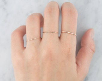 14K Solid gold ring, Stackable ring, Stacking Ring, Plain gold Ring