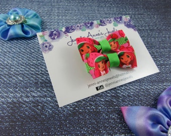 Bow Tie Hair Clip - Set of 2 - Strawberry Shortcake