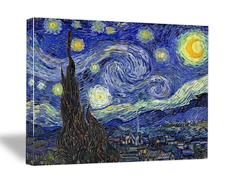 "Vincent van Gogh, ""Starry Night"", 16"" x 20"" x 0.75"" Canvas Gallery Wrap Print"
