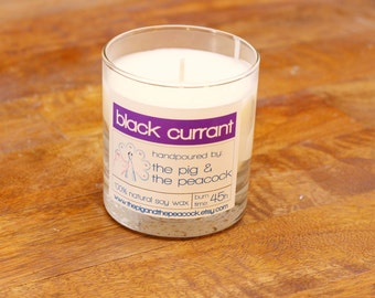 Soy Wax Candle - Black Currant Pure Soy Wax Candle - 7.5 oz