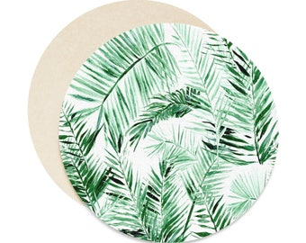 Palm Leaf Coasters, Set of 6, palm leaf coaster, tropical coaster, leaf coaster set, palm leaves