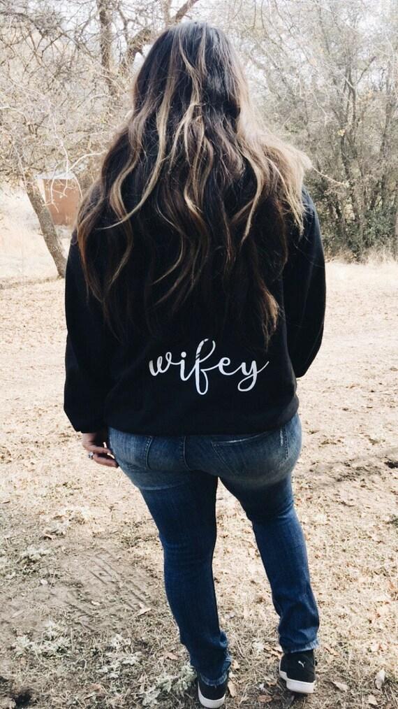 Wifey Hoodie | wife sweater | custom wifey sweathsirt