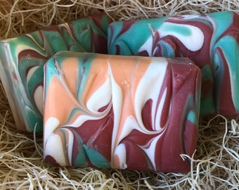 Sweet Orange Chili Pepper Scent, Handcrafted Soap