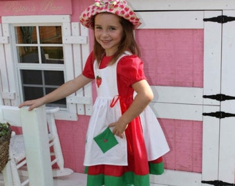 Strawberry Shortcake Costume Made to Order Girl sizes. 4 Pieces Tights and Hat included. sizes larger than 6 are slightly higher.  sc 1 st  Etsy & Shortcake costume | Etsy
