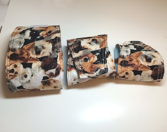 Belly Bands for House Training Puppy - Puppy Dog faces