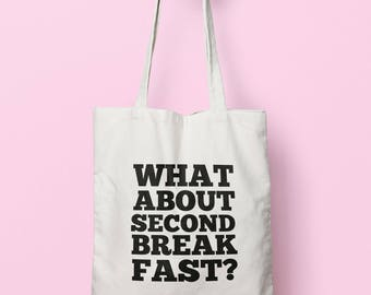 What About Second Breakfast? Tote Bag Long Handles TB00488