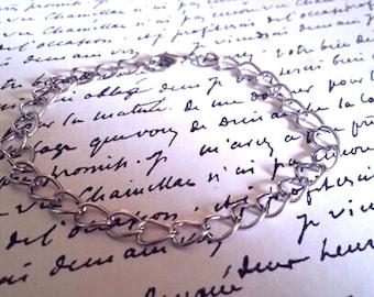 Silver Charm Bracelet - 1 pc. - Blank Charm Bracelet - Add a Charm Bracelet - Iron Charm Bracelet